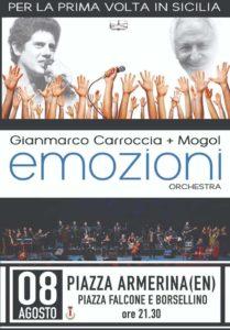 Carroccia e Mogol: Emozioni Orchestra - Piazza Armerina - en